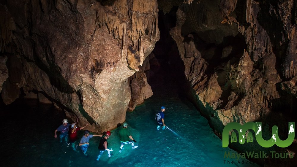 exploring the Actun Tunichil Muknal or ATM Cave, Belize
