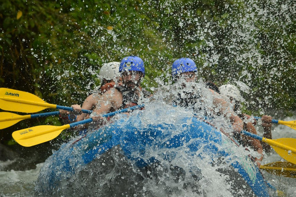 White water rafting the Balsa River in Costa Rica