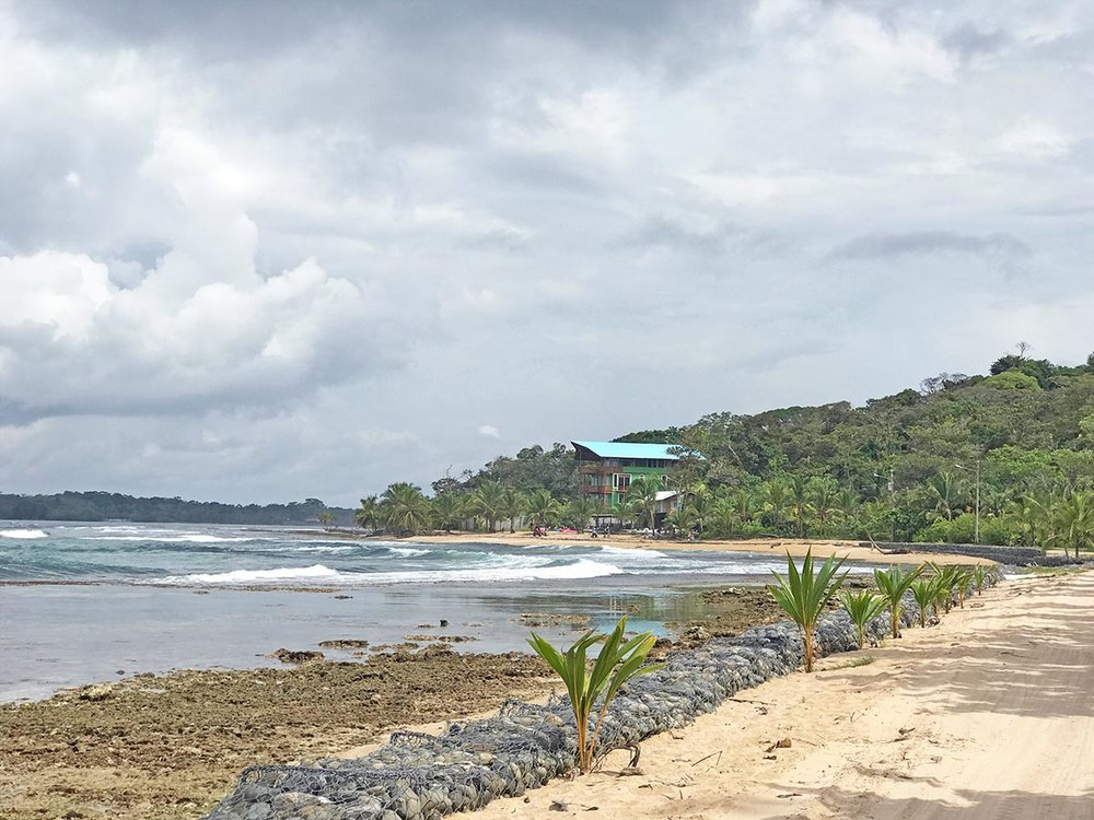 Paki Point beach in Bocas del Toro, Panama