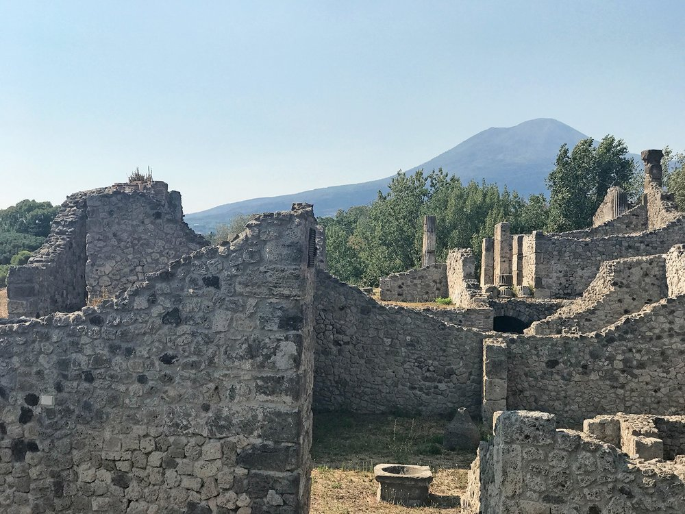Mount Vesuvius as seen from pompei, italy