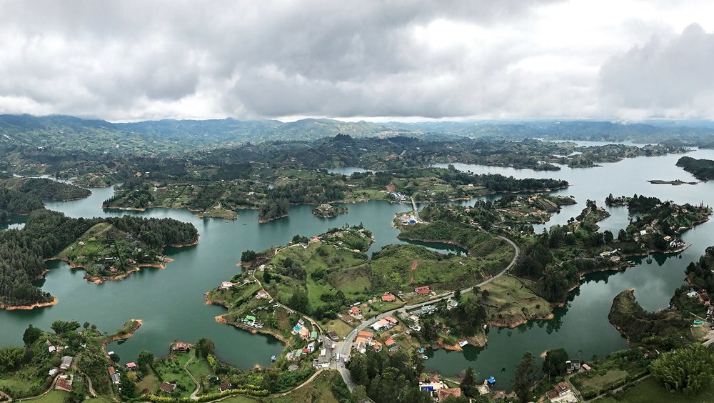 view from Piedra del Penol, Colombia