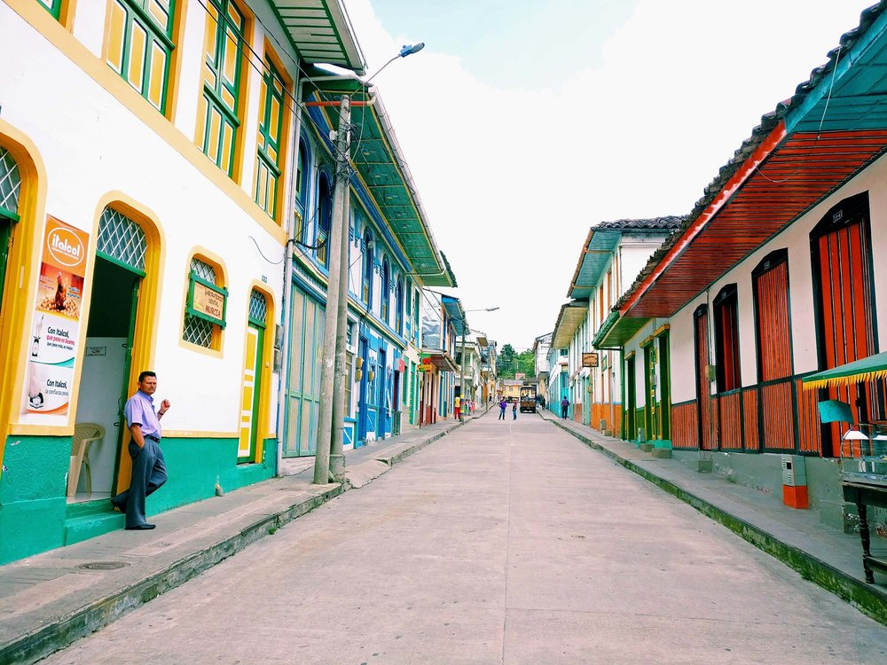 Pijao town in the colombian coffee region