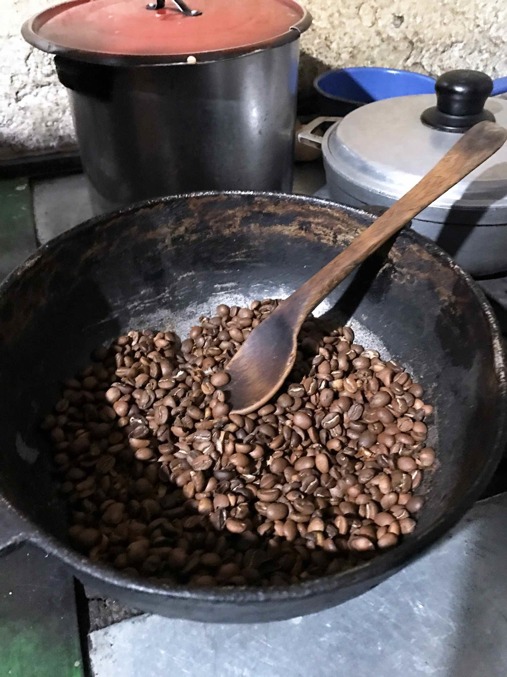Roasting Coffee in Salento, Colombia