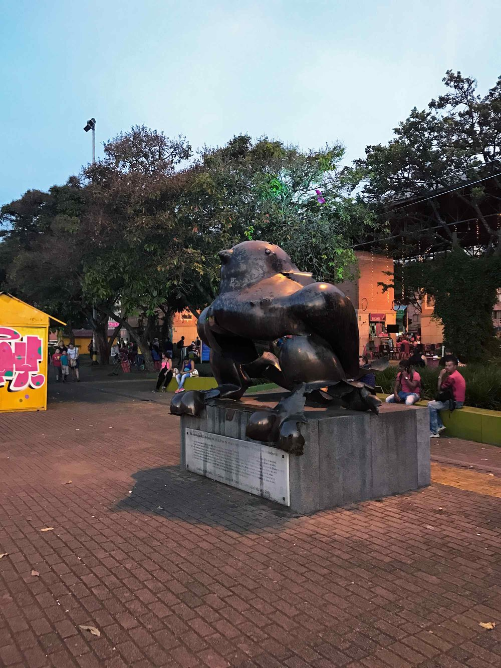 Medellin Colombia Botero bird sculpture blown up