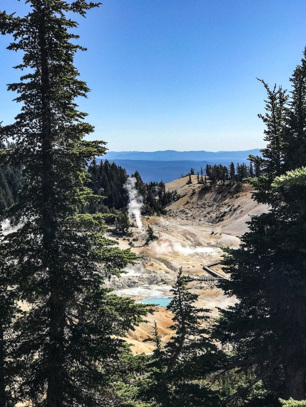 hiking Bumpass Hell in Lassen National Park