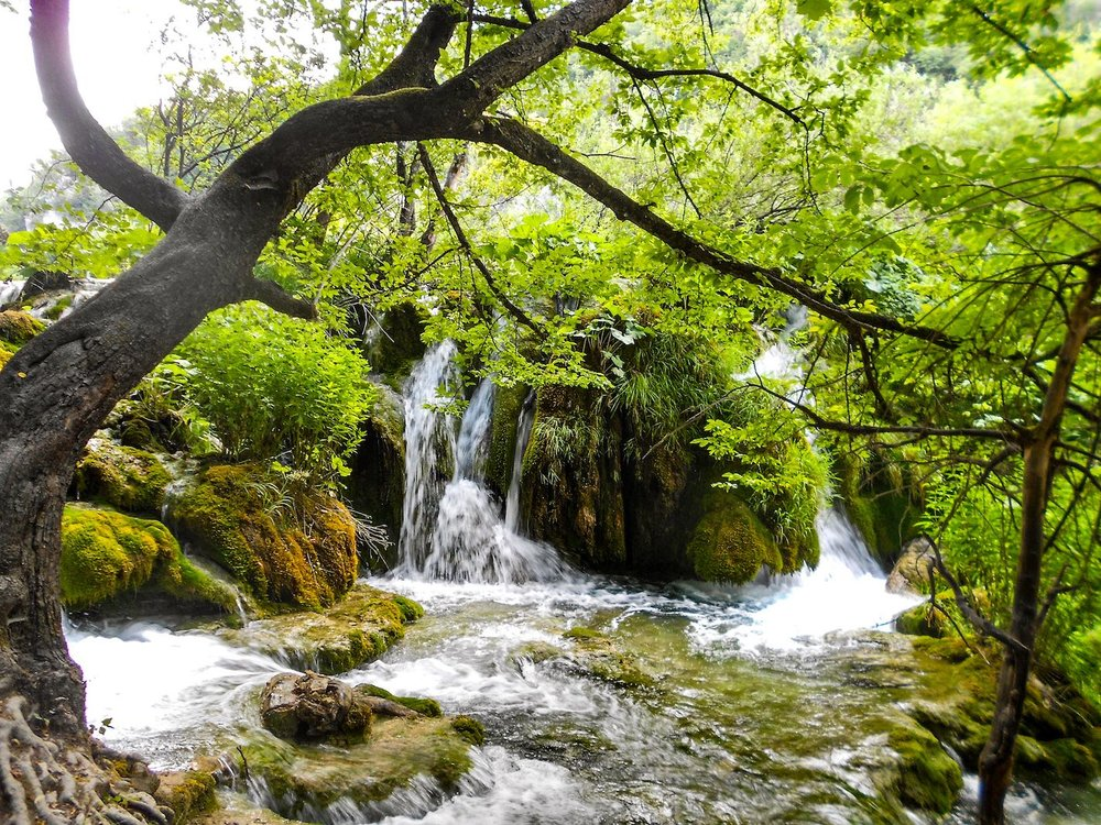 small waterfall in Plitvice Lakes Croatia